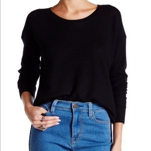 Madewell Black Chronicle Texture Pullover Sweater
